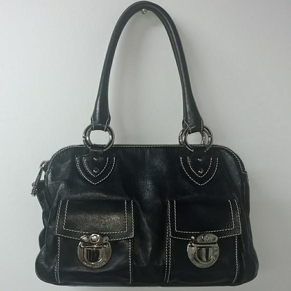 1faf0c3276a1 Marc Jacobs Blake Leather Pocket Satchel Purse. M 5bc68486534ef98a71224676